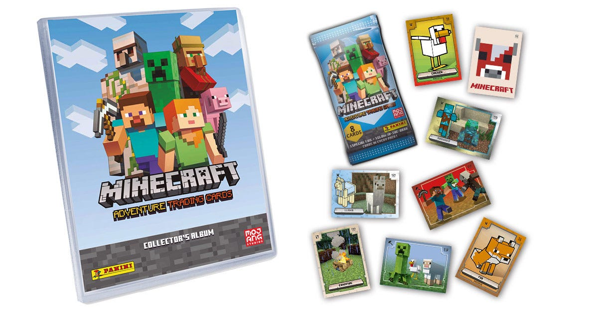 Minecraft Adventure Trading Card collection