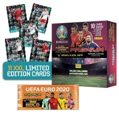De UEFA Euro 2020™ Adrenalyn XL™ 2021 Kick Off officiële ruilkaartencollectie XXL LIMITED EDITION-BUNDEL